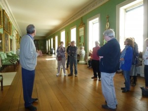 Listening to one of the excellent guides at Osterley House