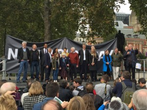 Speakers at the no 3rd runway demonstrtion
